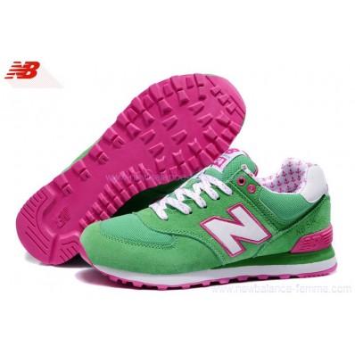 new balance femme vert et rose