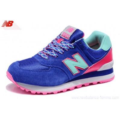 new balance rose et bleu femme