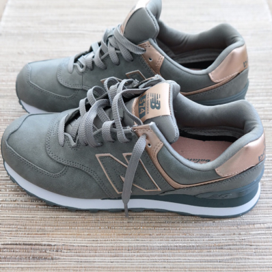 new balance silver and rose gold