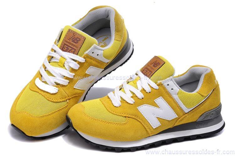 baskets new balance femme jaune