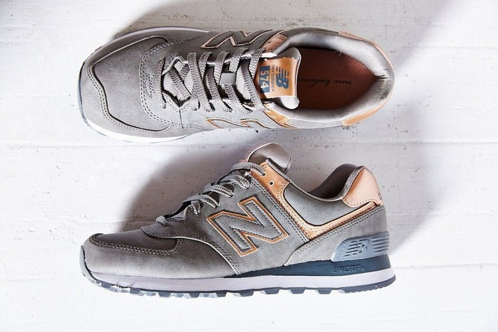new balance 574 kaki rose