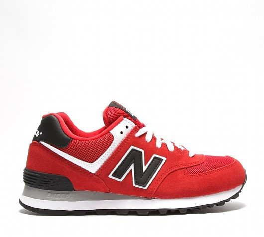 baskets new balance noir et rouge