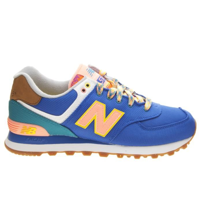 new balance 574 femme bleu et orange