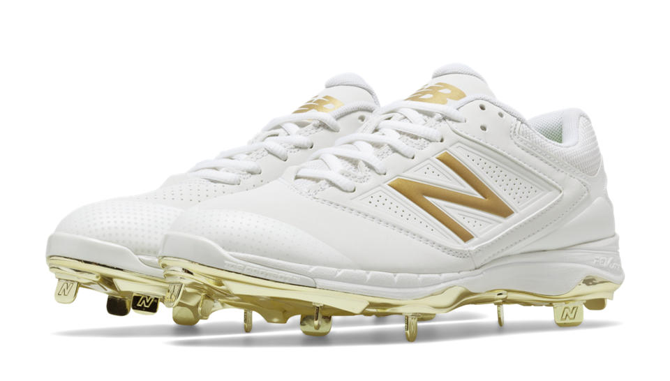 New Balance Gold Baseball Cleats