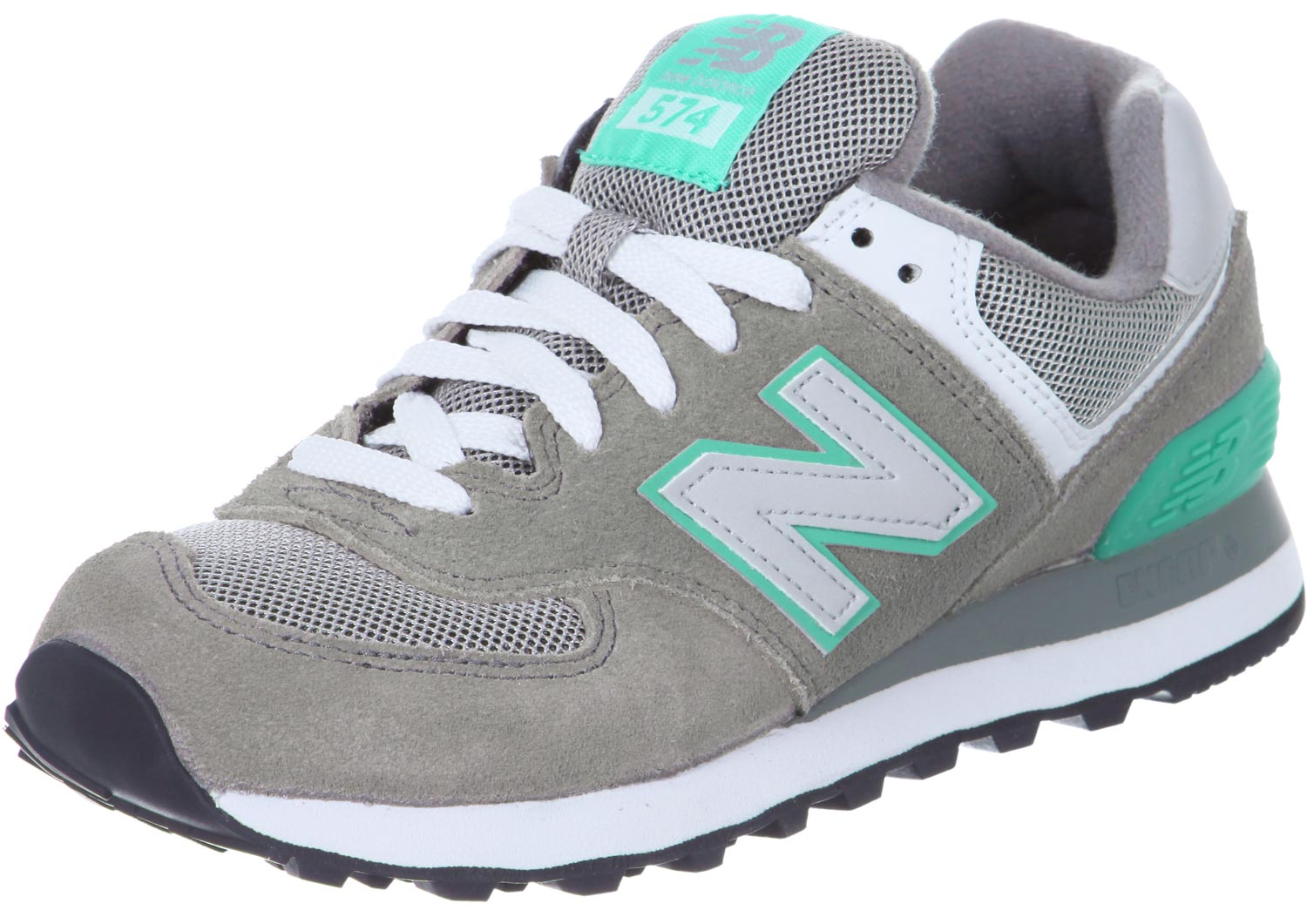 new balance turquoise gris, New Balance WL574 W chaussures